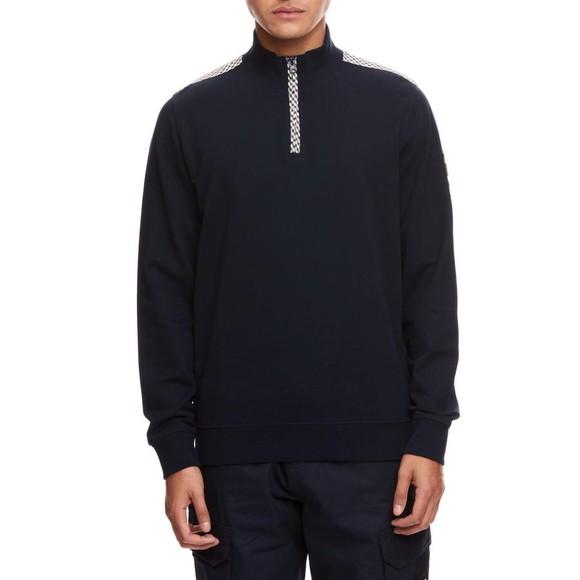 Weekend Offender Mens Blue Miyako Half Zip Sweatshirt main image
