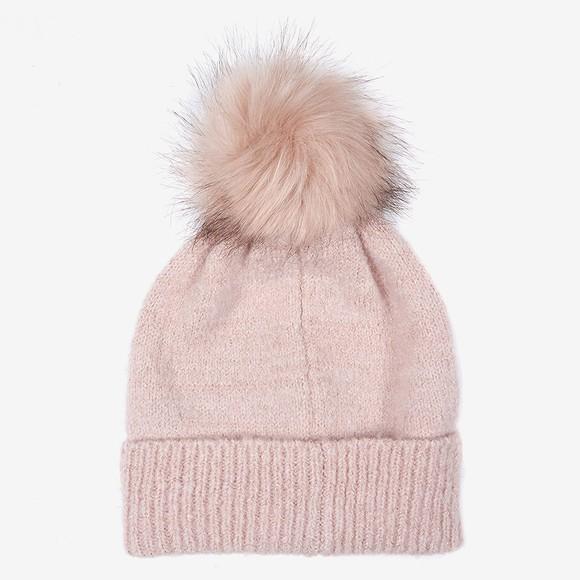 Barbour International Womens Pink Sparkle Knit Beanie