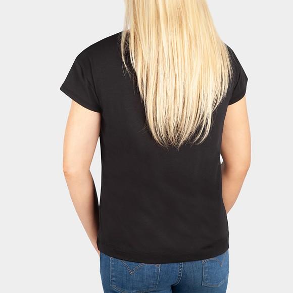 Love Moschino Womens Black Pocket Multi Heart T-Shirt main image