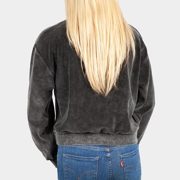 Calvin Klein Jeans Womens Black Washed Velvet Sweatshirt main image