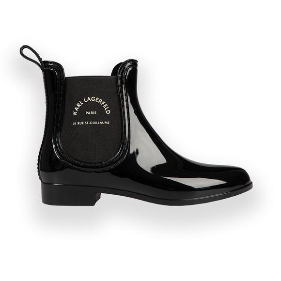 Karl Lagerfeld Womens Black Kalosh II Ankle Boot