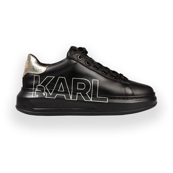 Karl Lagerfeld Womens Black Outline Logo Trainer main image
