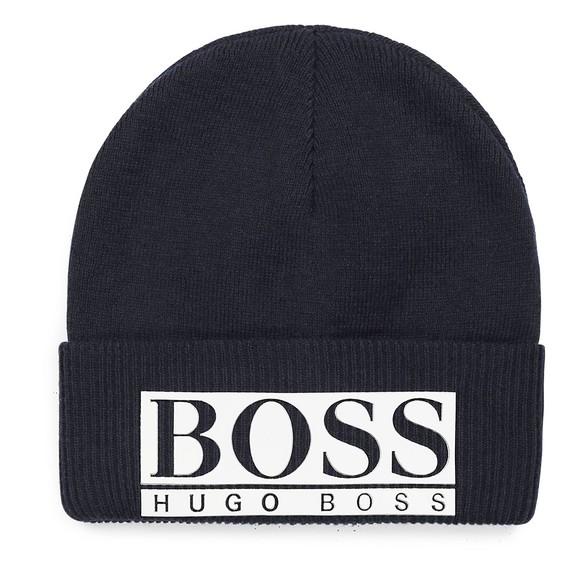 BOSS Boys Blue J21240 Knitted Hat