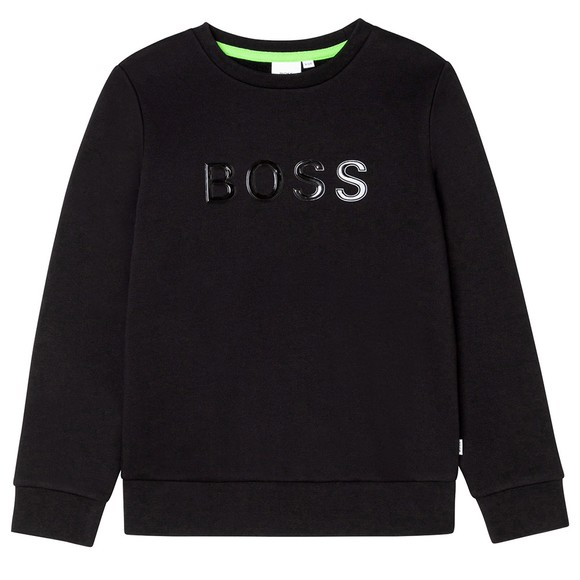 BOSS Boys Black J25N08 Logo Sweatshirt