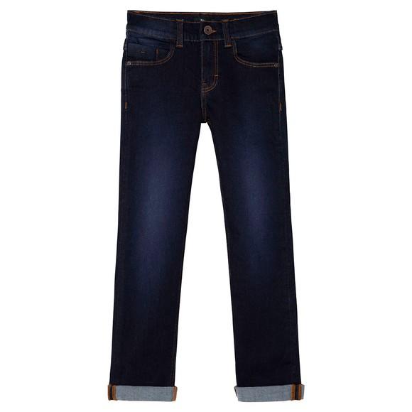BOSS Boys Blue J24728 Slim Fit Jean