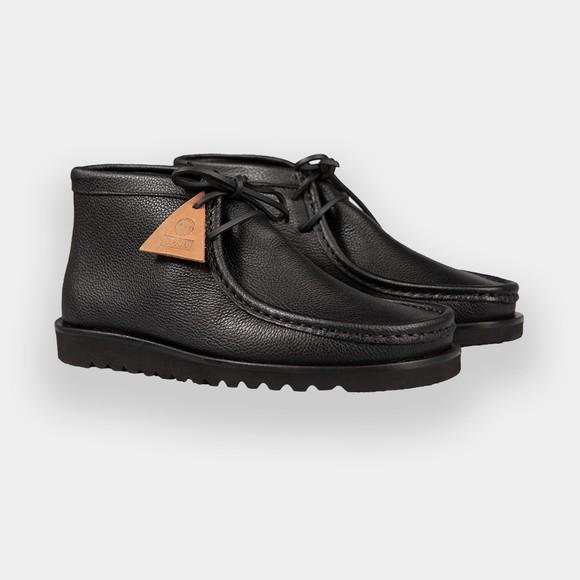 Pretty Green Mens Black x Veras Leather Boot