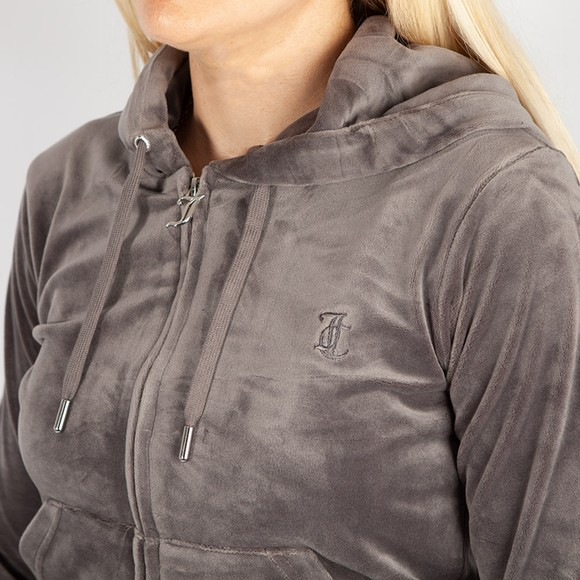 Juicy Couture Womens Grey Robertson Classic Hoody main image