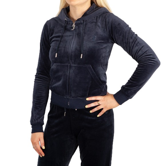 Juicy Couture Womens Blue Robertson Classic Hoody main image