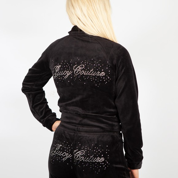 Juicy Couture Womens Black Tanya Scatter Track Top main image