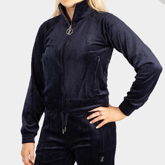 Juicy Couture Womens Blue Tanya Track Top