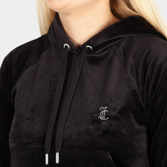 Juicy Couture Womens Black Robertson Diamante Hoody main image