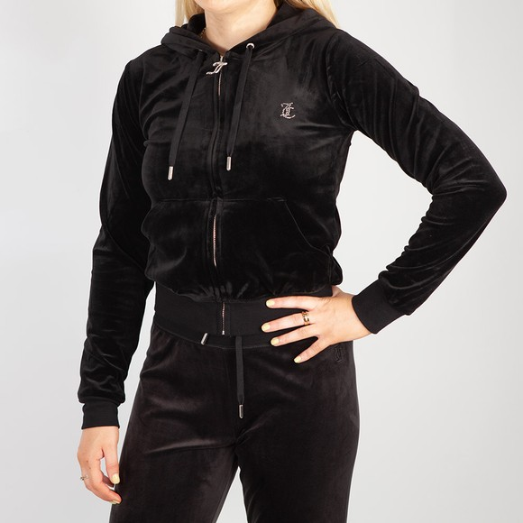 Juicy Couture Womens Black Robertson Diamante Hoody