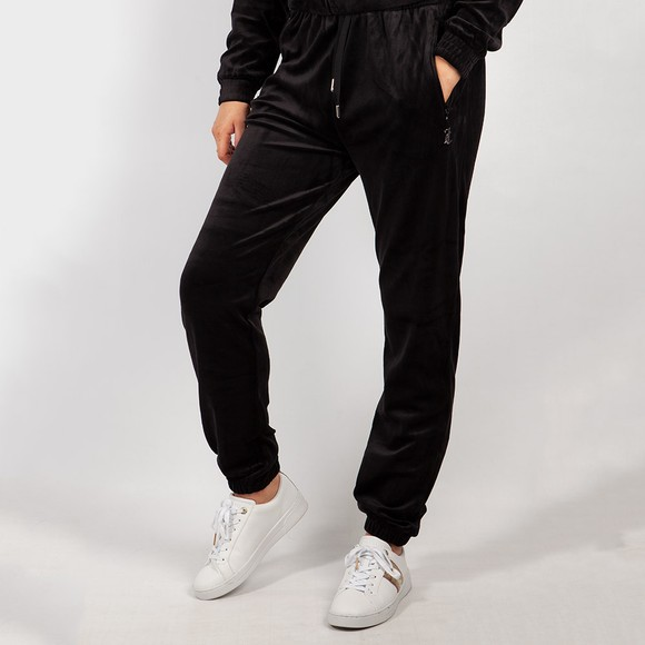 Juicy Couture Womens Black Lillian Graphic Jogger