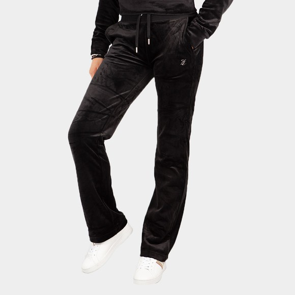 Juicy Couture Womens Black Delray Diamante Track Pant