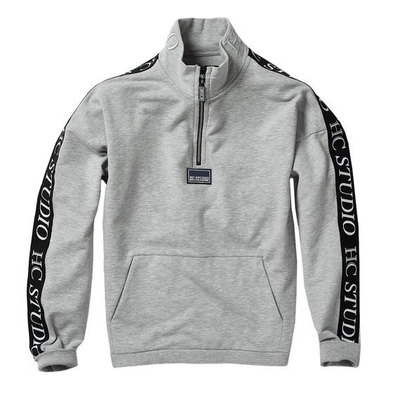 Holland Cooper Womens Grey Studio Taped Sweatshirt main image