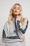 Holland Cooper Womens Grey Studio Taped Sweatshirt