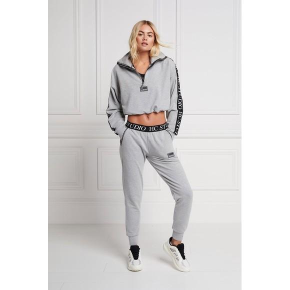 Holland Cooper Womens Grey Studio Taped Jogger main image