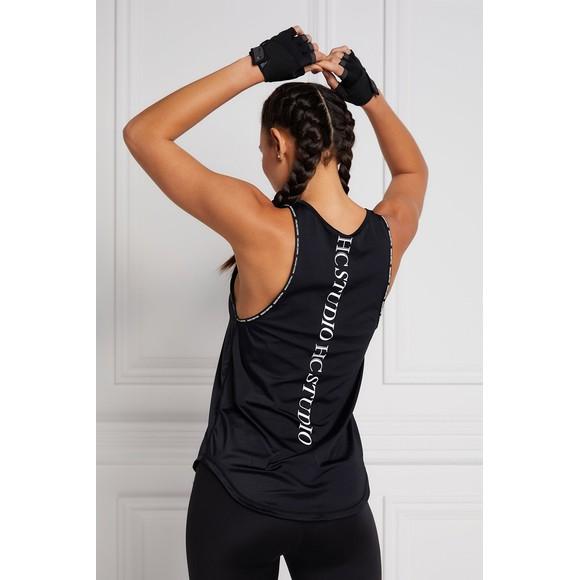 Holland Cooper Womens Black Studio Loose Fit Vest main image