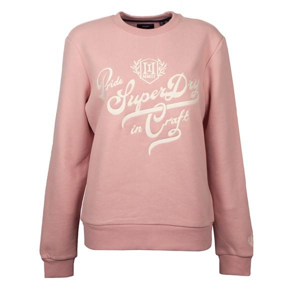Superdry Womens Pink Pride In Craft Sweatshirt