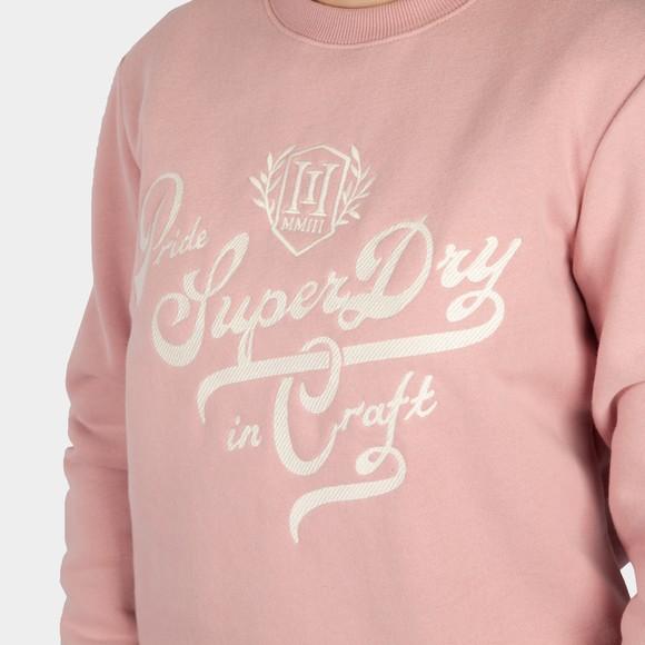 Superdry Womens Pink Pride In Craft Sweatshirt main image