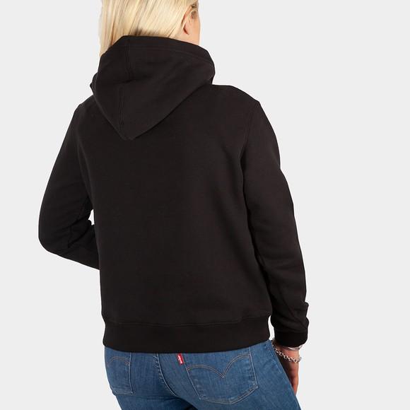 Calvin Klein Jeans Womens Black Reptile Monogram Hoody main image