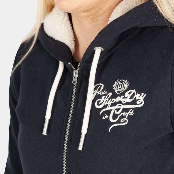 Superdry Womens Blue Pride In Craft Zip Hoody main image