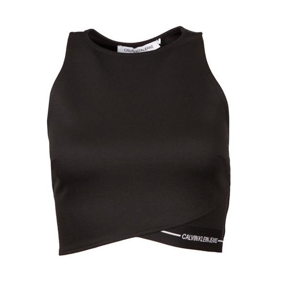Calvin Klein Jeans Womens Black Milano Tank Top