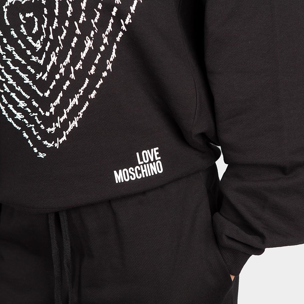 Text Heart Sweatshirt main image