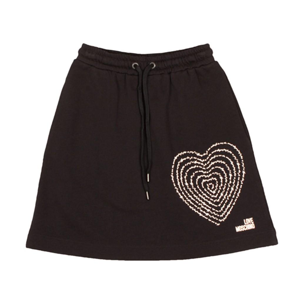 Text Heart Jersey Skirt main image