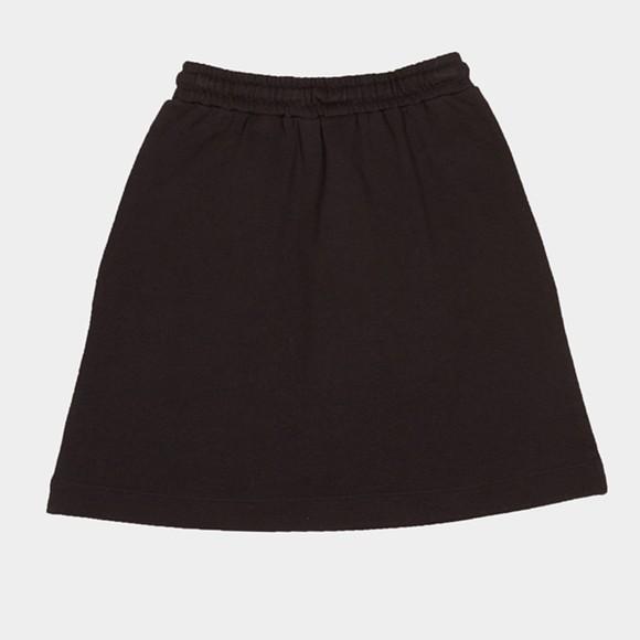 Love Moschino Womens Black Text Heart Jersey Skirt