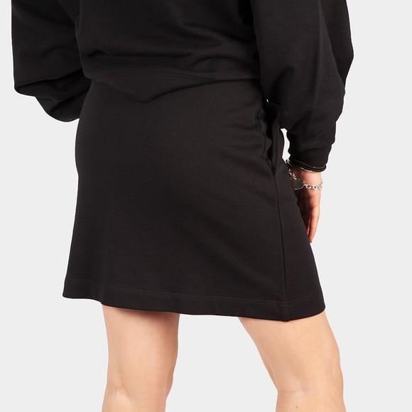Love Moschino Womens Black Text Heart Jersey Skirt main image