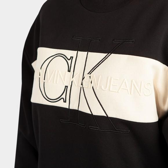 Calvin Klein Jeans Womens Black Monogram Blocking Sweatshirt main image