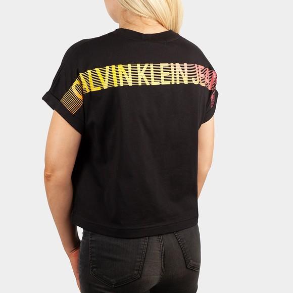 Calvin Klein Jeans Womens Black Degrade Back Logo T Shirt main image