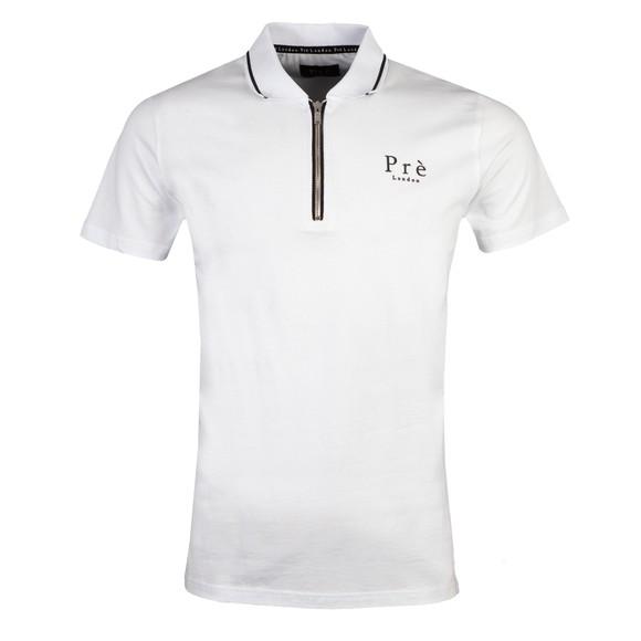 Pre London Mens White Alanis Zip Polo Shirt main image