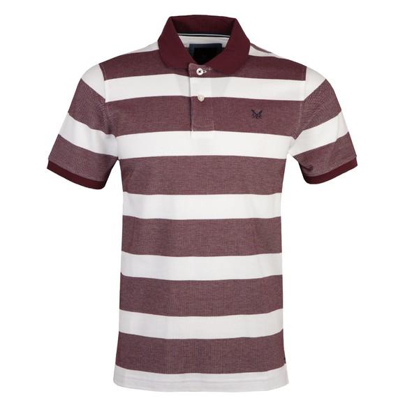 Crew Clothing Company Mens Red Oxford Polo Shirt main image