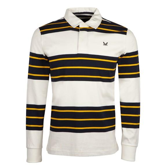 Crew Clothing Company Mens White Devoran Rugby Shirt main image