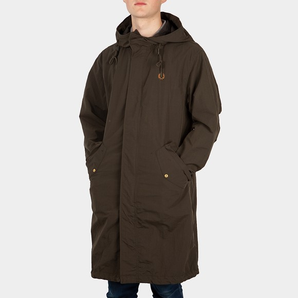 Fred Perry Mens Green Shell Parka