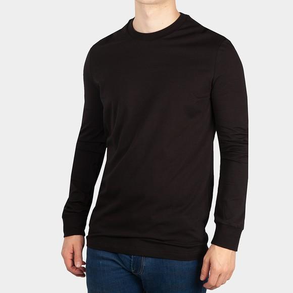 Dsquared2 Mens Black Back Logo Long Sleeve T Shirt