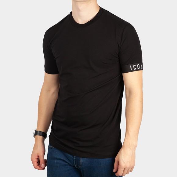 Dsquared2 Mens Black Icon Sleeve T Shirt