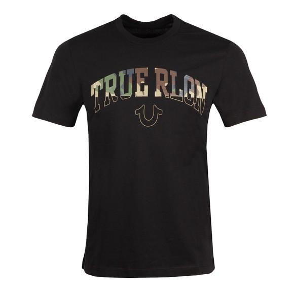 True Religion Mens Black Arch Large Logo T-Shirt