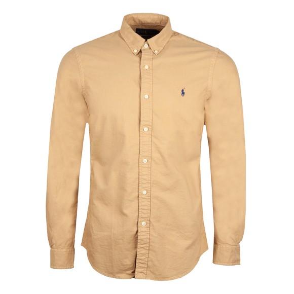 Polo Ralph Lauren Mens Brown Slim Fit Button Down Oxford Shirt