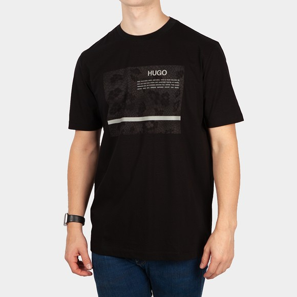HUGO Mens Black Dentimans_X T-Shirt