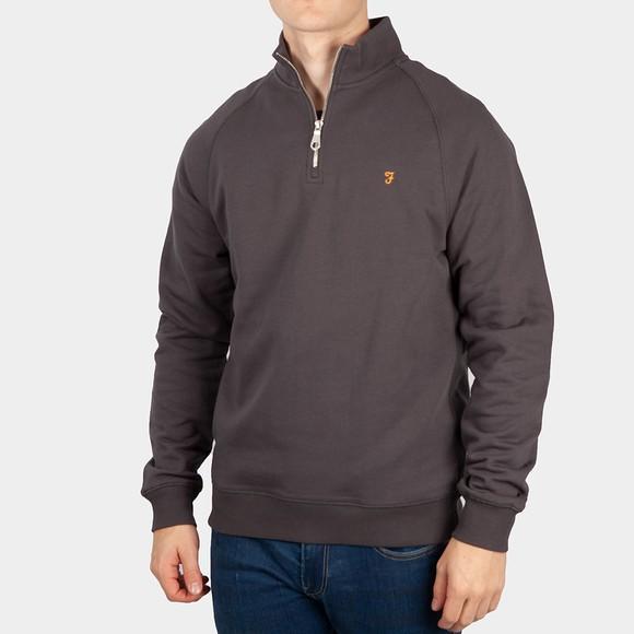Farah Mens Grey 1/4 Zip Jim Sweatshirt