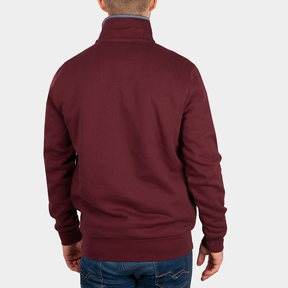 Crew Clothing Company Mens Red Classic 1/2 Zip main image