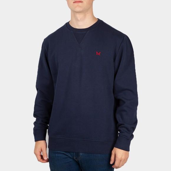 Crew Clothing Company Mens Blue Baddesley Crew Sweatshirt