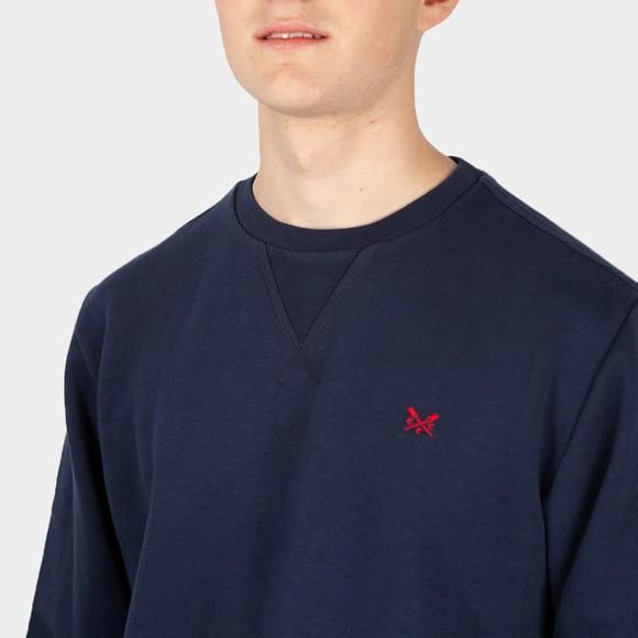 Crew Clothing Company Mens Blue Baddesley Crew Sweatshirt main image