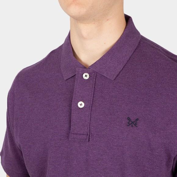 Crew Clothing Company Mens Purple Classic Pique Polo Shirt main image