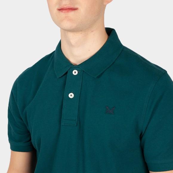 Crew Clothing Company Mens Green Classic Pique Polo main image