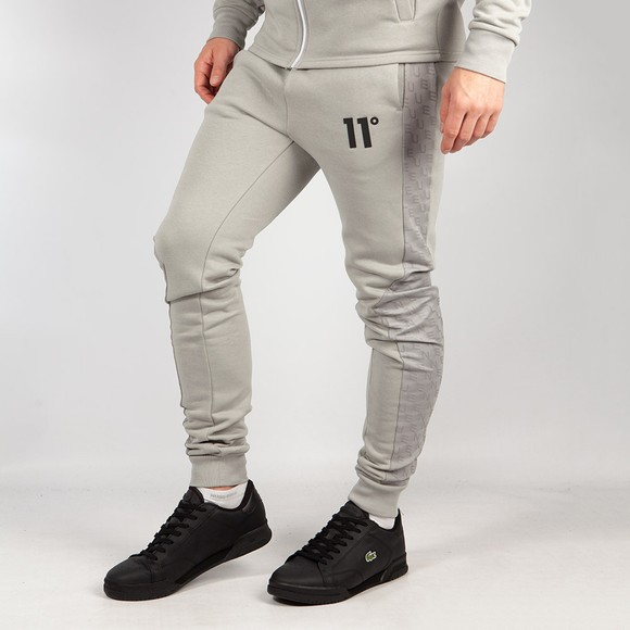 Eleven Degrees Mens Silver Skinny Fit Joggers