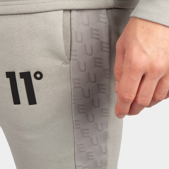 Eleven Degrees Mens Silver Skinny Fit Joggers main image